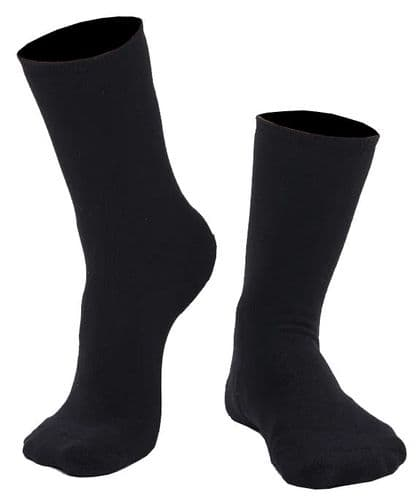 Unisex 3 Pack Black School Socks