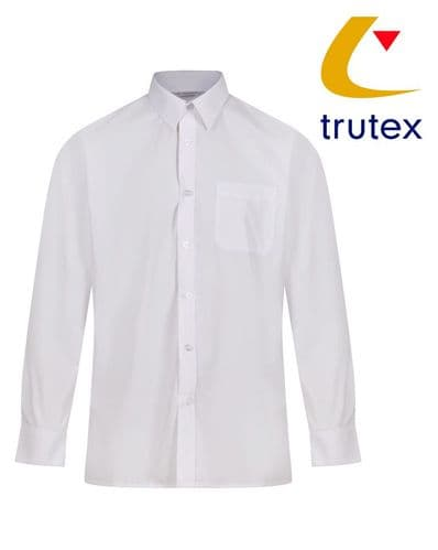 White Twin Pack Long Sleeve Non-Iron Shirt