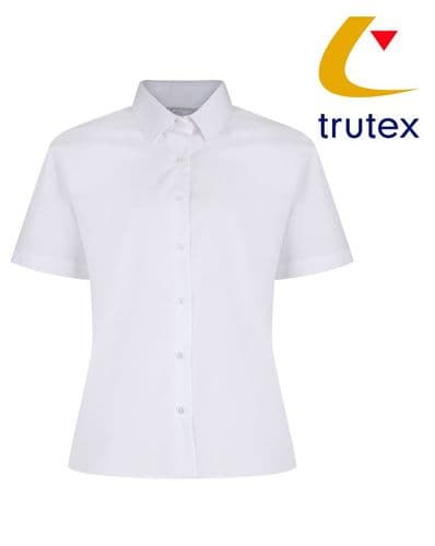 White Twin Pack Short Sleeve Non-Iron Blouse