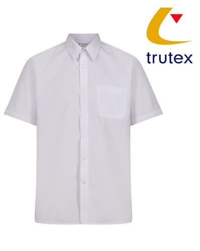 White Twin Pack Short Sleeve Non-Iron Shirt