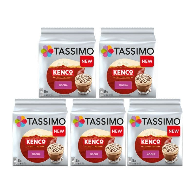 Tassimo T Discs Kenco Mocha Coffee Pods Case of 5 Packets