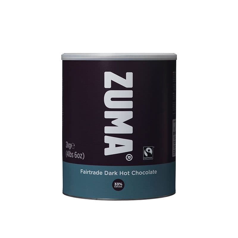 Zuma Fairtrade Dark Hot Chocolate 2kg Tin