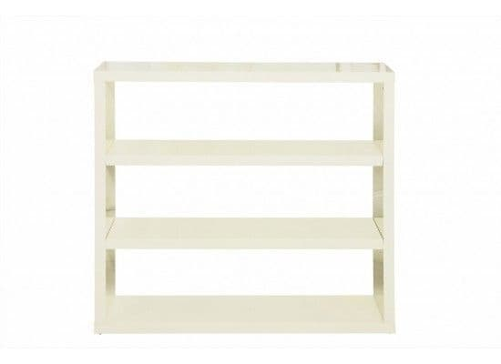 Troyes High Gloss Cream Finish Bookcase 17LD430