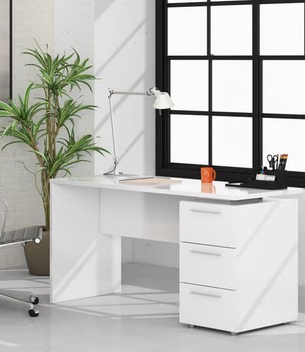 Adalrik Artic White  Computer Office Desk Table - 2614
