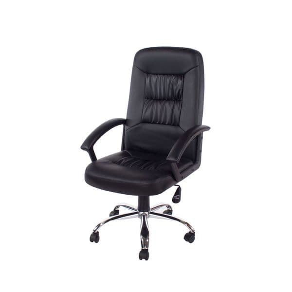 Adapt Home Office Chair In High Back, Black Faux Leather, Black Base LFCH23-BK