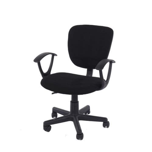 Adapt Study Chair In Black Fabric, Black Base LFCH26-BK