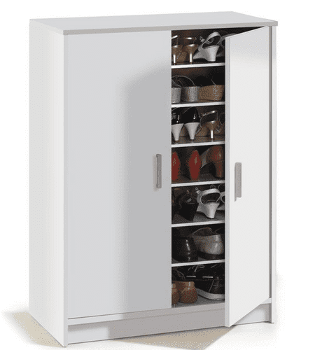 Alfy Large 30 Pairs Shoe Cupboard Cabinet White