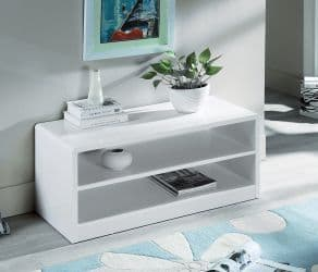 Alzira White High Gloss Compact TV Unit 18JB298
