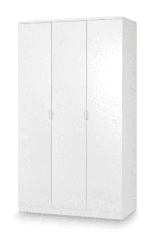 Alzira White High Gloss Lacquer 3 Door Wardrobe JB308