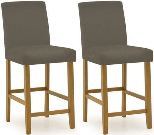 Anagni Traditional Cappucino PU Leather Bar Chair (Pair) 218VD418