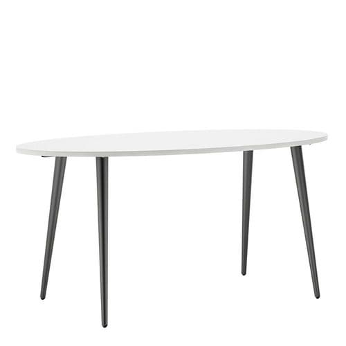 Anslo White & Black Large 160cm Dining Table FG704753974960