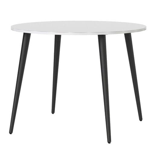 Anslo White & Black Small 100cm Dining Table FG704753864960