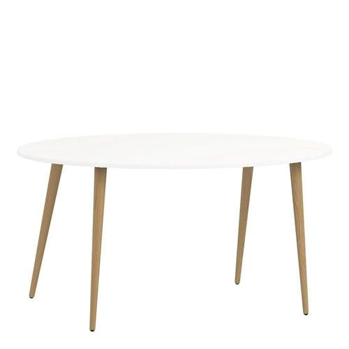 Anslo White & Oak Large 160cm Dining Table FG704753974949
