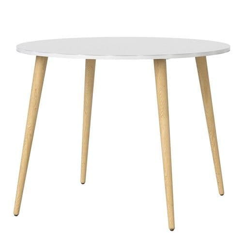 Anslo White & Oak Small 100cm Dining Table FG704753864949