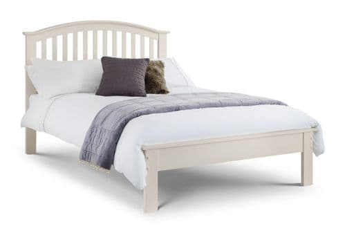 Antequera Stone White Lacquered Finished Double Bed JB362