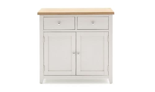 Aquino Two Tone Grey And Oak 2 Door / 2 Drawer Small Sideboard 218VD430