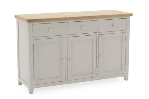 Aquino Two Tone Grey And Oak 3 Door / 3 Drawer Large Sideboard 218VD429