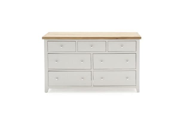 Aquino Two Tone Grey And Oak 7 Drawer Wide Chest 218VD447