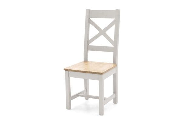 Aquino Two Tone Grey And Oak Cross Back Dining Chair 218VD427