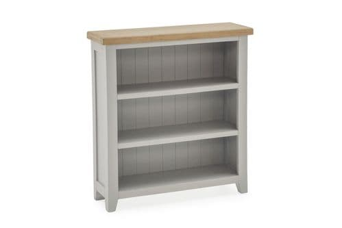 Aquino Two Tone Grey And Oak Low Bookcase 218VD437