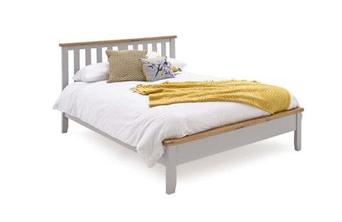 Aquino Two Tone Grey And Oak Low Footboard Double Bed 218VD444