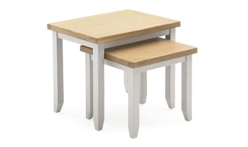 Aquino Two Tone Grey And Oak Nest Of Tables 218VD434