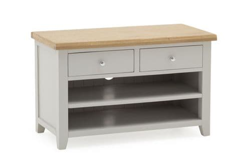 Aquino Two Tone Grey And Oak Small TV Unit 218VD441