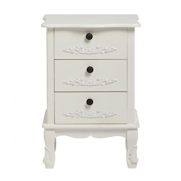 Argenteuil White 3 Drawer Chest 19LD27