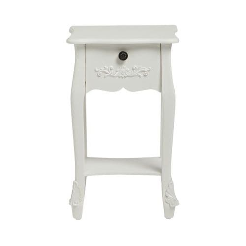 Argenteuil White Bedside Table 19LD26