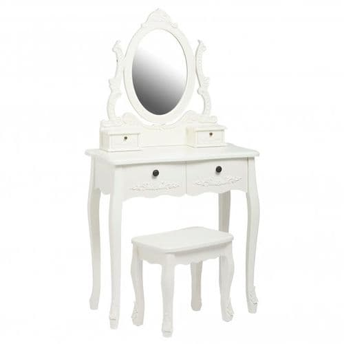 Argenteuil White Dressing Table Set 19LD29