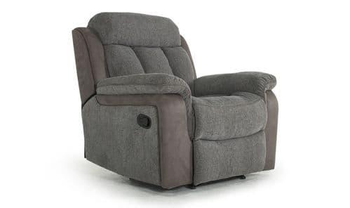 Ariano Grey With Suede 1 Seater Recliner 18VD133
