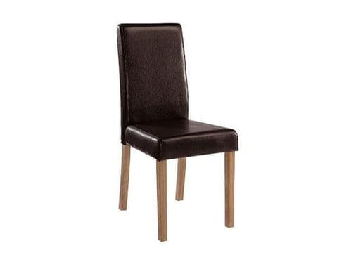 Arles Black Faux Leather Set Of 2 Dining Chairs 17LD456
