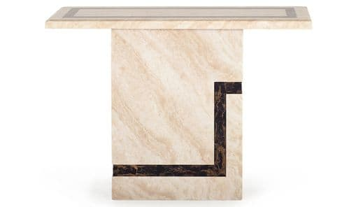 Arpino High Gloss Cream Marble Console Table 218VD458