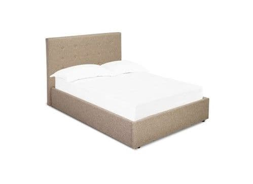 Arras Beige Upholstered Fabric King Size Bed 17LD182