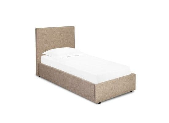 Arras Beige Upholstered Fabric Single Bed 17LD180