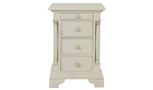 Avezzano Antique White Bedside Table 18VD25
