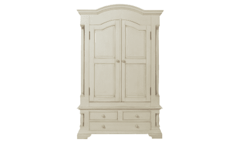 Avezzano Antique White Combination Wardrobe 18VD28