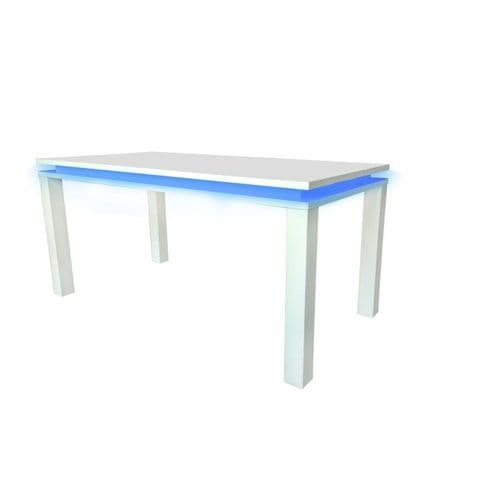 Azay White High Gloss LED Dining Table 17LD550