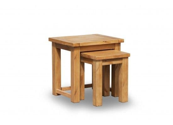 Beaune Solid Pine Nest Of 2 Tables 17LD320