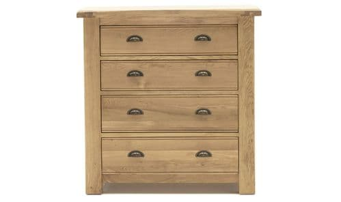 Benevento Natural Oak Veneer 4 Drawer Chest 18VD167