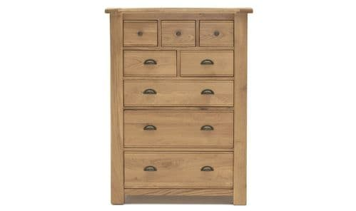 Benevento Natural Oak Veneer 8 Drawer Chest 18VD166
