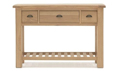 Benevento Natural Oak Veneer Console Table 18VD153