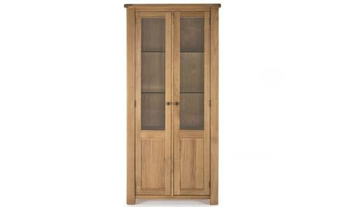 Benevento Natural Oak Veneer Display Cabinet 18VD157