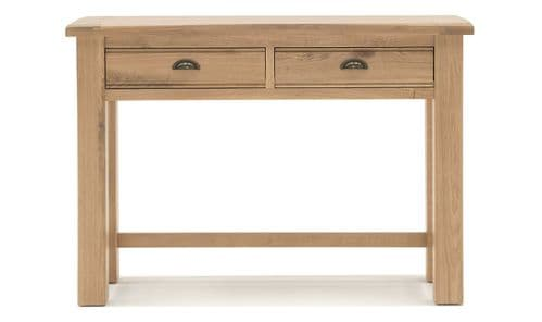 Benevento Natural Oak Veneer Dressing Table And Stool Set 18VD169