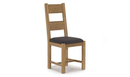 Benevento Natural Oak Veneer Grey Fabric Dining Chair 18VD148
