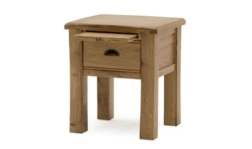 Benevento Natural Oak Veneer Lamp Table 18VD152