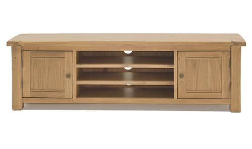 Benevento Natural Oak Veneer Large TV Unit 18VD156