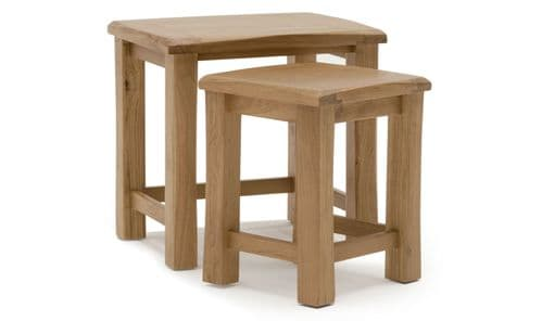 Benevento Natural Oak Veneer Nest Of Tables 18VD154