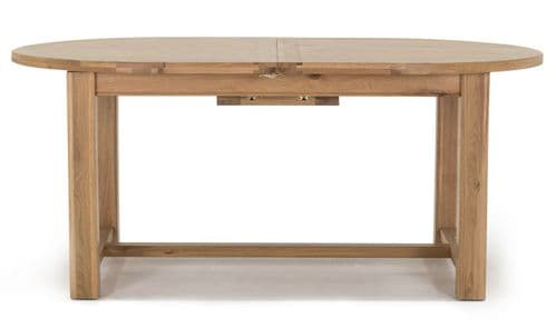 Benevento Natural Oak Veneer Oval Extending Dining Table 18VD143