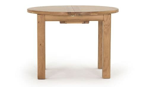 Benevento Natural Oak Veneer Round Extending Dining Table 18VD146